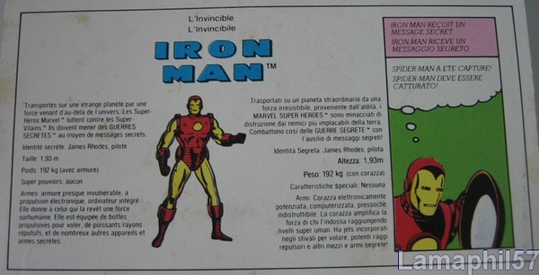 SECRET WARS/Guerres secrètes (Mattel) 1984 - Page 2 Iron_man